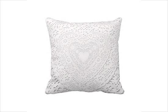 Zazzle White Lace Throw Pillow