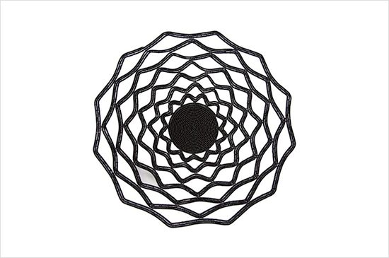 Delve Black Lace Bowl