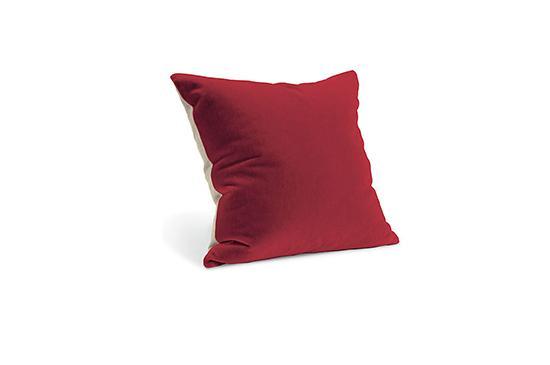 Room and Board Mohair Terrain Pillow - Crimson