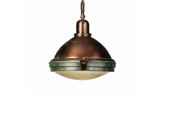 Restoration Hardware Prismatic Glass Copper Pendant