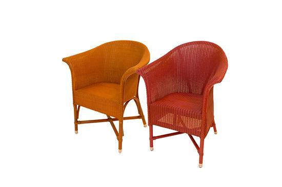 Kathryn Ireland Lloyd Loom Arm Chairs