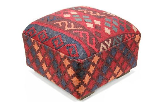 Tribal Home Kilim Ottoman