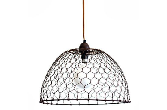 Barn Light Electric Chicken Wire Basket Pendant Lamp