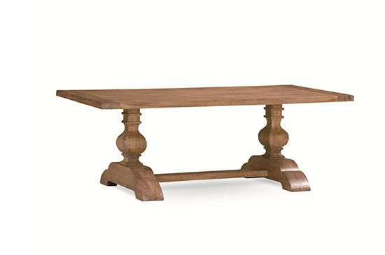 Home Furniture Showroom MasterCraft Collections Vintage Concord Trestle Table