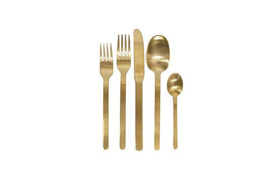 Canvas Domino Gold Cutlery Set
