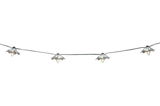 Lamps Plus Galvanised String Party Lights