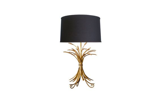High Street Market Gold Wheat Sheaf Table Lamp