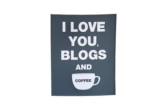 "Etsy ""I Love You Blogs and Coffee"" Print by Jennifer Ramos"