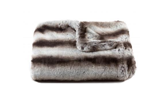 Tourance Chinchilla Faux Fur Throw