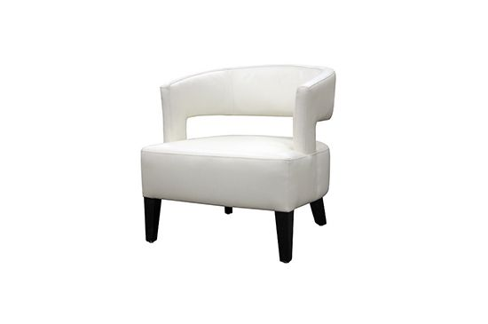 Hayneedle White Club Chair