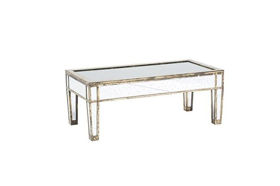 High Fashion Home Kayla Mirrored Coffee Table