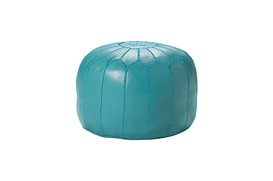 Serena & Lily Turquoise Pouf