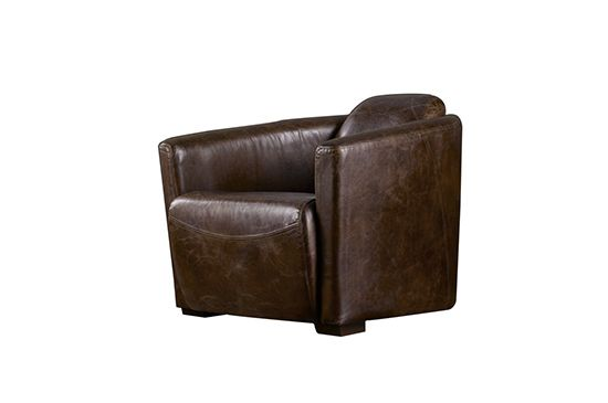 Restoration Hardware Rocket Leather Chair