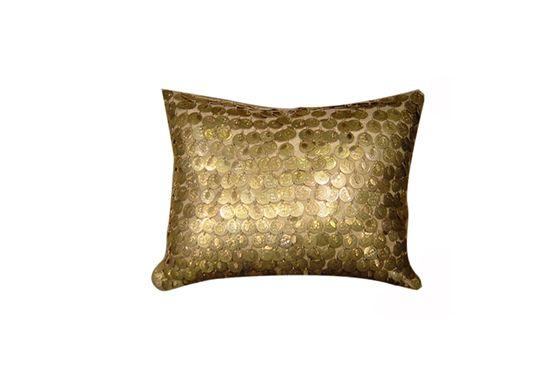 Hazelnut New Orleans Gold Coin Pillow