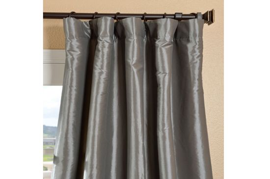 Overstock Faux Taffeta Curtains