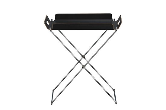CB2 Formosa Black Tray Table