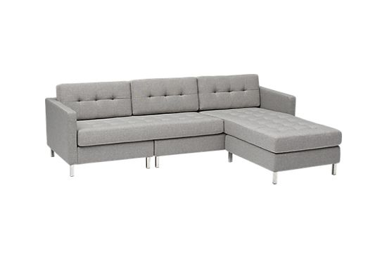 CB2 Pebble Sectional Sofa