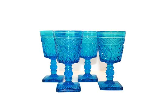 Etsy Blue Vintage Glasses