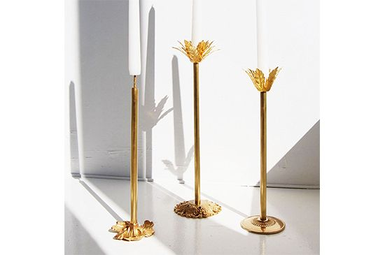 Pelle Designs  Brass Candle Holders