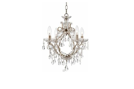 Euro Style Lighting Eyja Silver Crystal Chandelier