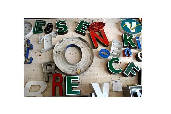 Rehab Vintage Neon Channel Letters