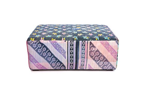 The Future Perfect  Antique Quilts Mags Ottoman