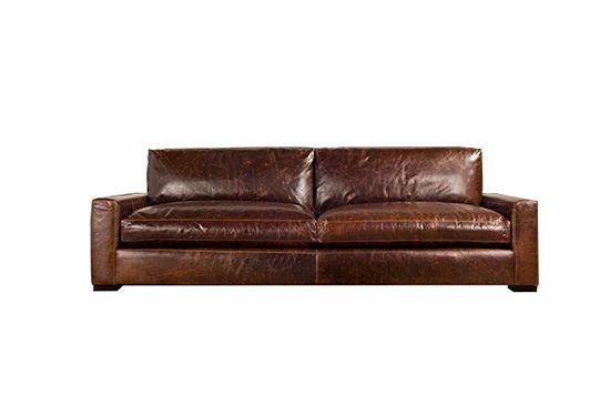 Restoration Hardware Maxwell Leather Sofa, From $3495