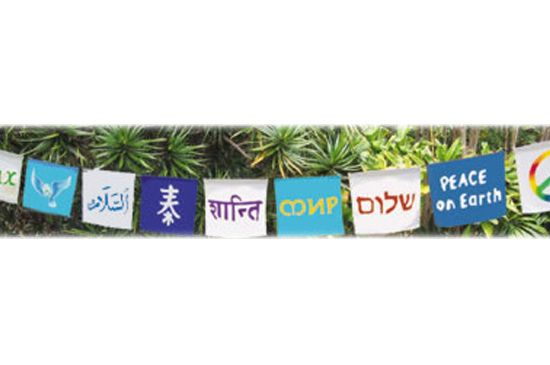 Trippy Store Universal Peace String Flags