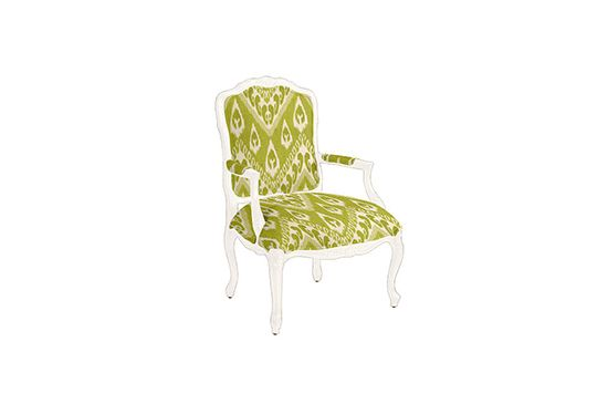 Ballard Designs Louis XV Salon Chair in Matisse Ikat