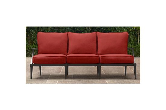Restoration Hardware Klismos Sofa in Sunbrella Canvas Persimmon, from $820