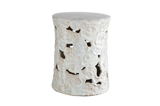 Wisteria Ceramic Cumulus Stool