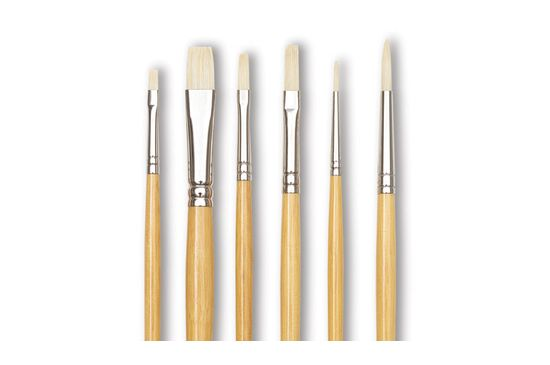 Dick Blick Academic White Bristle Combination Set, from $29