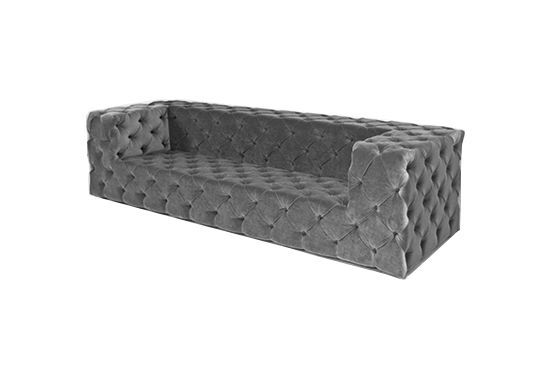 Room Service Fat Albert Sofa in Charcoal Velvet