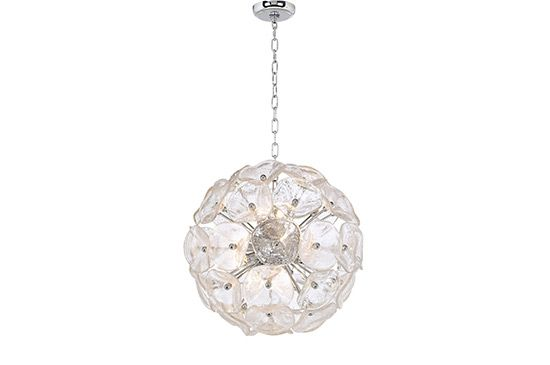 Lamps Plus Crystal Blossom Twelve Light Pendant Chandelier