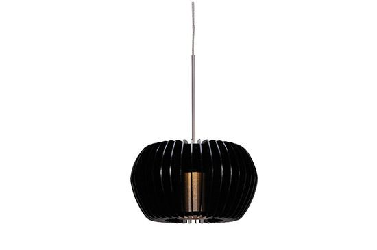 Euro Style Lighting WAC Uber Wide Gloss Black LED Pendant Light