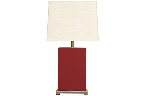Lamps Plus Splash Collection Burgundy Ceramic Rectangular Table Lamp