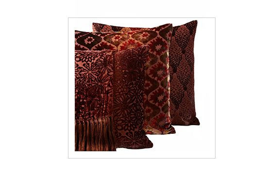 Horchow Kevin O\'Brien Studio Orange Velvet Throw & Pillows, From $295