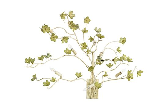 Nineteen Mercier Bird and Blossom Left Sconce