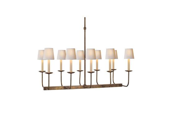 Circa Lighting Linear Branched 10-Light Chandelier