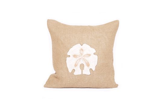 Bliss Home & Design Handpainted San Dollar Pillow