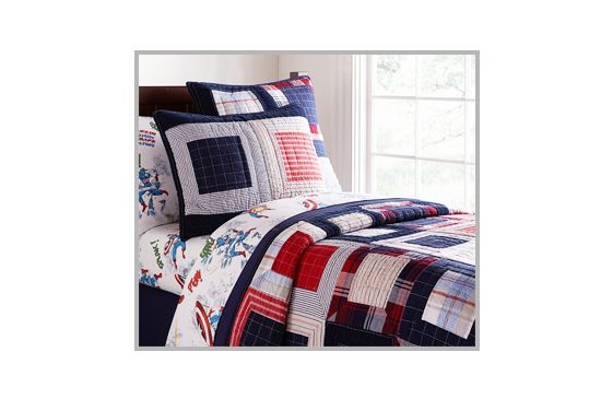 Pottery Barn Kids Patchwork Squares Quilted Bedding, from $26