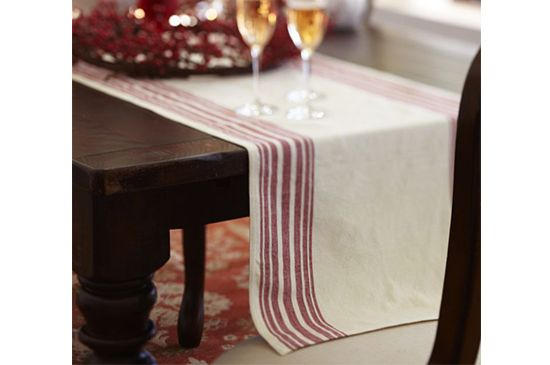 Pottery Barn  Stripe Table Runner
