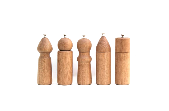 Nickey Kehoe De JONG & Co. White Oak Salt and Pepper Grinders