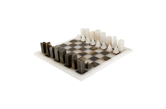 Barneys New York Scali Salvatore Alabaster Chess Set