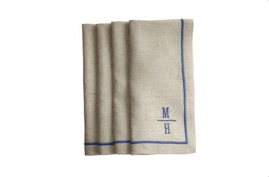 Mark and Graham Linen Satin Stitch Dinner Napkins, from $58