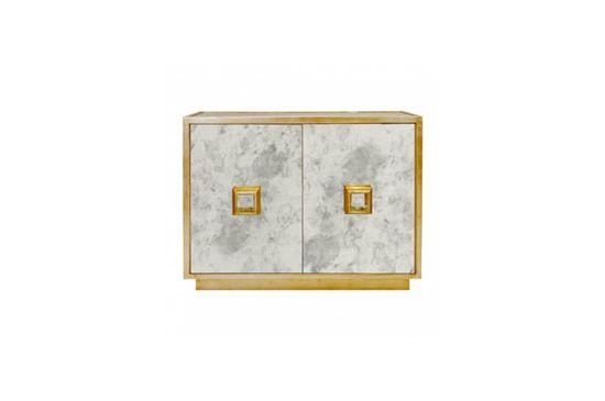 Mecox Gardens Breck Gold Leafed Cabinet