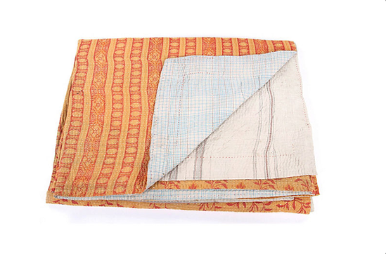 One Kings Lane Hand-Stitched Kantha Throw, Bakul