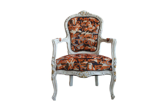 Chairish Stephen Sprouse Graffiti Bergere Chairs