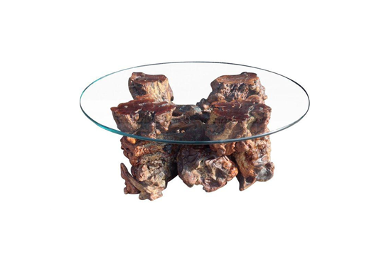 Chairish Midcentury Burl Wood Coffee Table