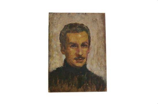 Etsy Vintage French Man Portrait Oil Painting